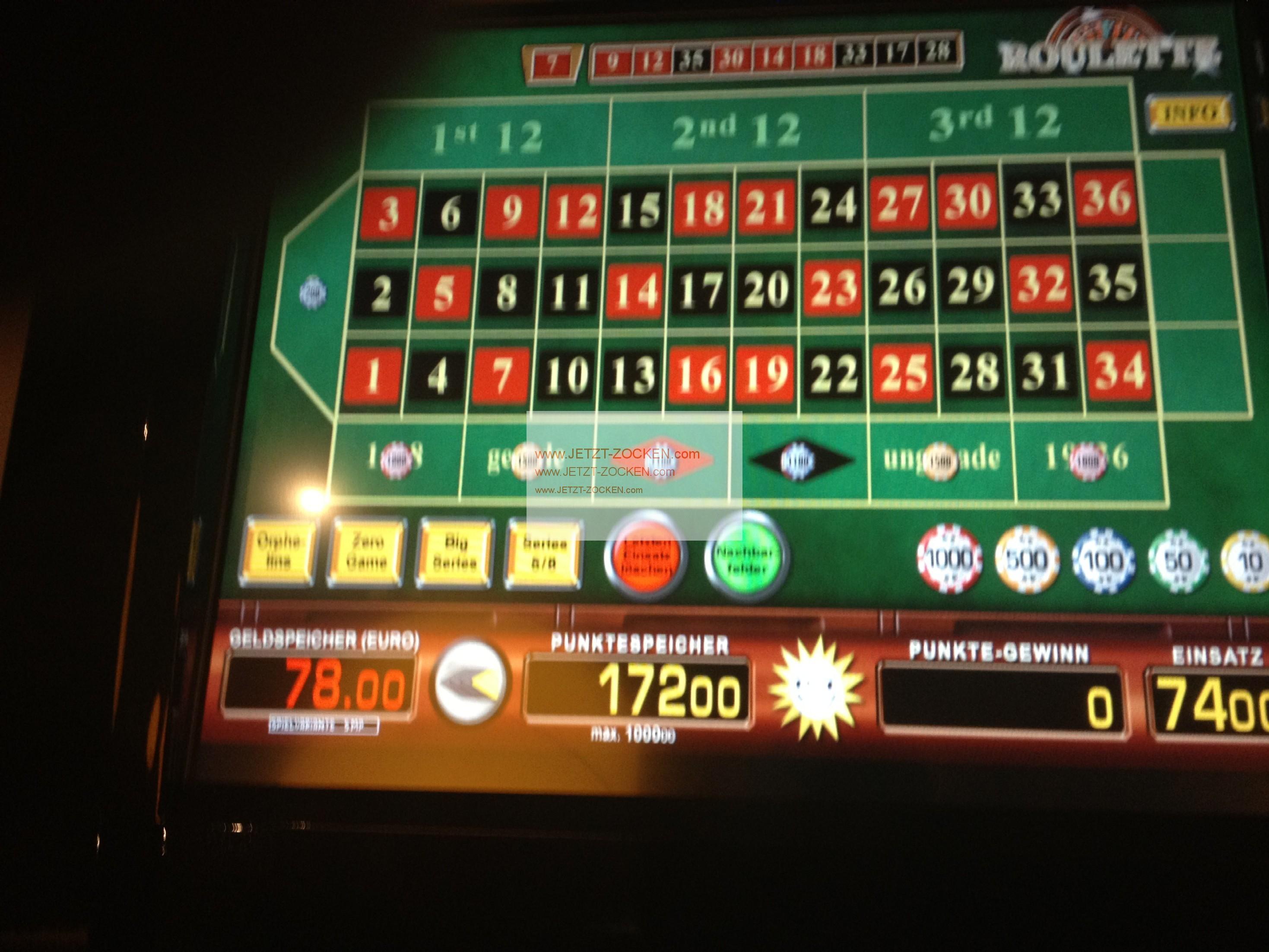 Roulette Gewinne - 10820